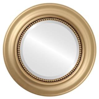 Heritage Framed Round Mirror in Gold Spray