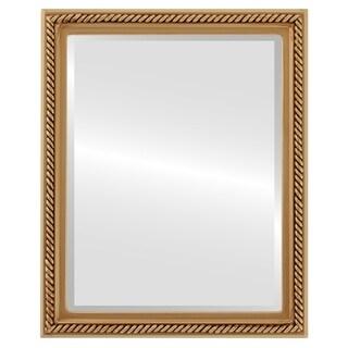 Santa Fe Framed Rectangle Mirror in Gold Paint