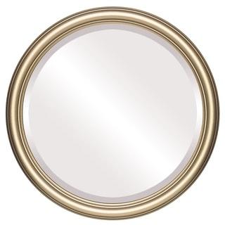 Saratoga Framed Round Mirror in Gold Spray