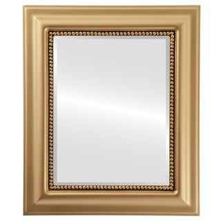 Heritage Framed Rectangle Mirror in Gold Spray