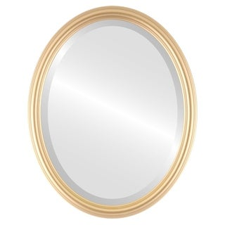 Saratoga Framed Oval Mirror in Gold Spray