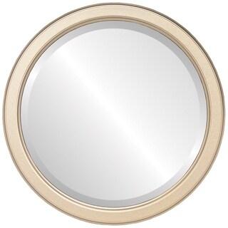 Toronto Framed Round Mirror in Gold Spray