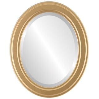 Wright Framed Oval Mirror in Gold Spray