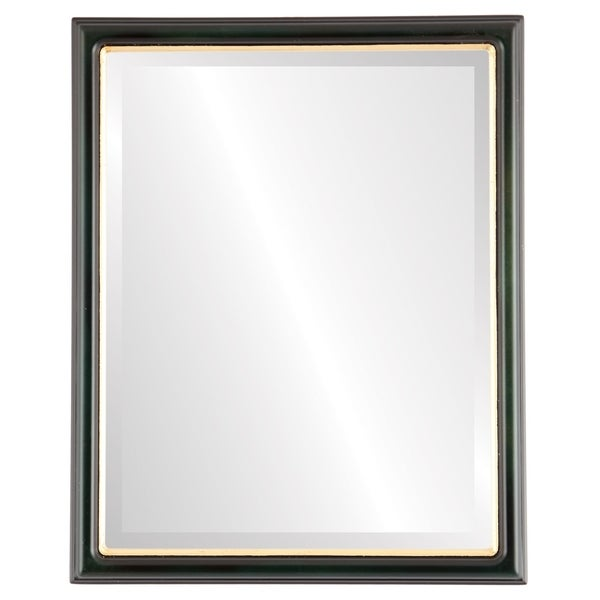 Shop Hamilton Framed Rectangle Mirror In Hunter Green With