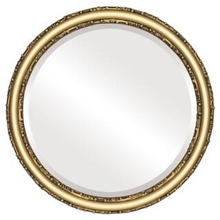 Virginia Framed Round Mirror in Gold Spray