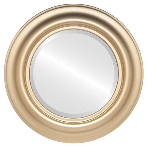Lancaster Framed Round Mirror in Gold Spray