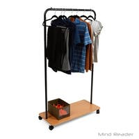 Mind Reader Heavy Duty Single Rolling Garment Rack, Black