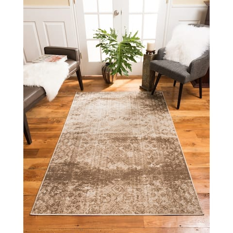 Natural Area Rugs Vintage Oriental Ibiza Polypropylene Rectangle Rug (5'X8') Brown - 5' x 8'