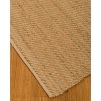 NaturalAreaRugs Rowan Hemp Cotton Area Rug, 70% Hemp and 30% Cotton, Anti-Static, Stain Resistant (5' x 8') Beige Color