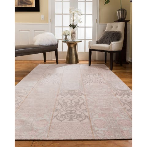 Natural Area Rugs Vintage Oriental Fiorentina Polyester Rectangle Rug (5'X8') Pink - 5' x 8'