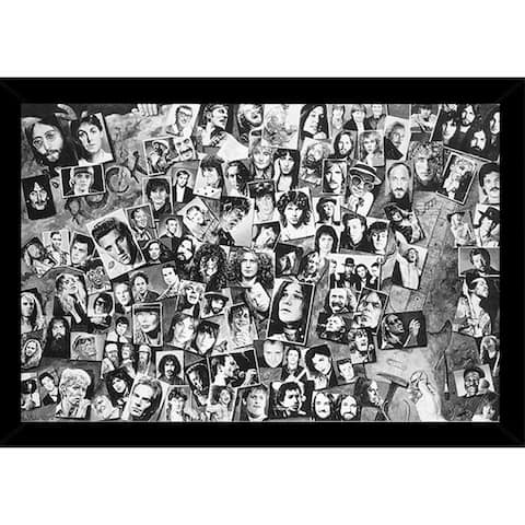History of Rock and Roll Poster With Choice of Frame (24x36)
