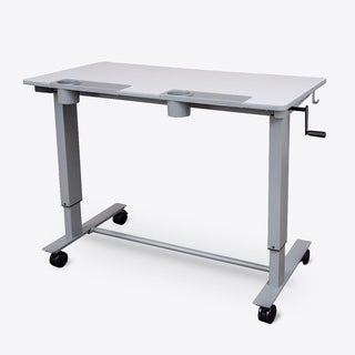 Luxor Two- Student Standing Desk with Crank (Gray desktop/Gray Frame)