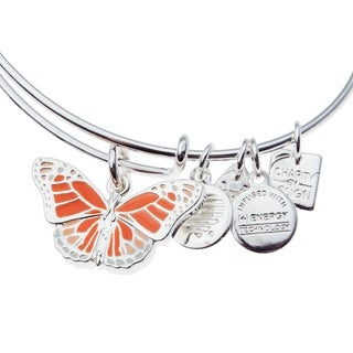 Alex and Ani Butterfly Charm Bangle