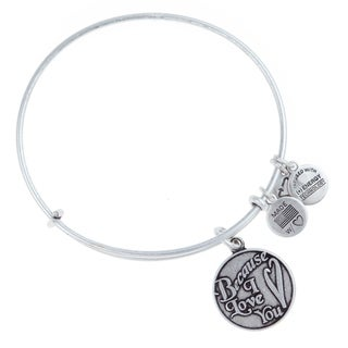 Alex and Ani Because I Love You Charm Bangle - Silver