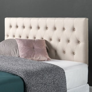 Priage Upholstered Modern Classic Tufted Headboard, Taupe