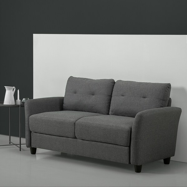 Cheap Sofas Free Shipping: Shop Priage By Zinus Contemporary Loveseat, Dark Grey