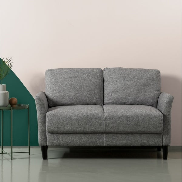 Shop Priage By Zinus Classic Loveseat Soft Grey On Sale