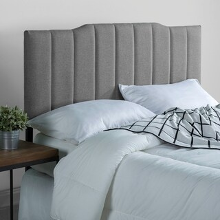 Priage Upholstered Channel Stitched Headboard-Grey