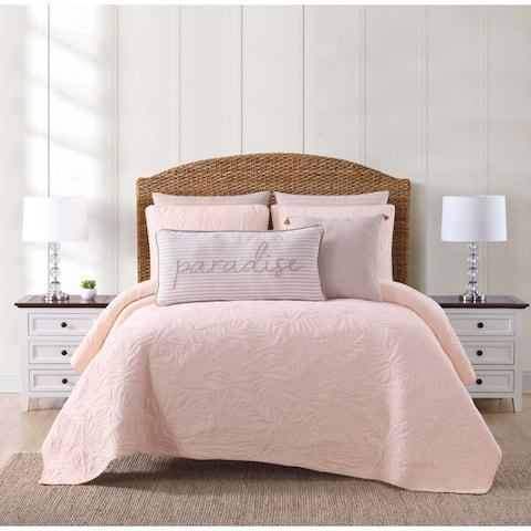 Oceanfront Resort Chambray Coast Cotton 3-piece Quilt Set