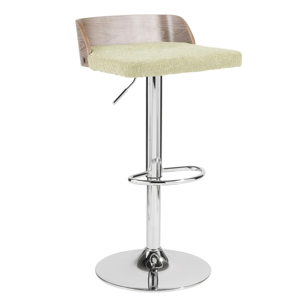 Carson Carrington Marstrand Light Grey Wood and Fabric Adjustable Bar Stool. Opens flyout.
