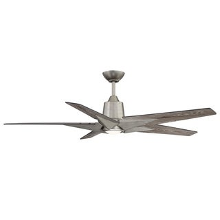 Buckenham Aged Pewter and Grey Weathered Oak 5-blade Ceiling Fan