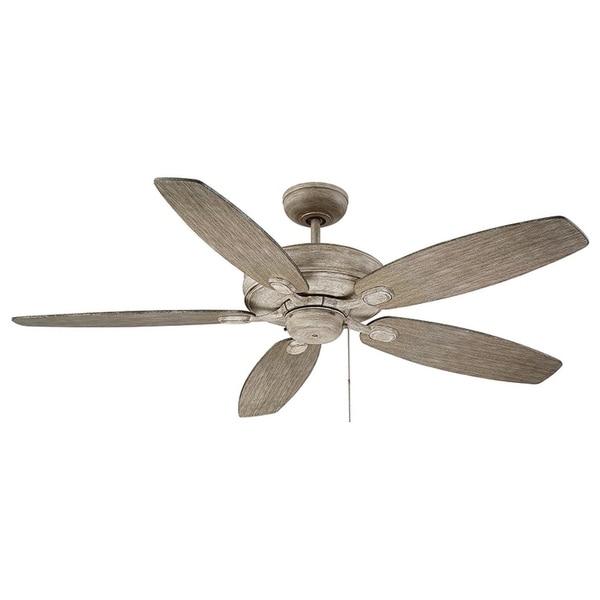 Copper Grove Woodhill Aged Wood 5-blade Ceiling Fan