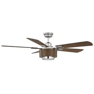 Winchester Polished Nickel 1-light Ceiling Fan