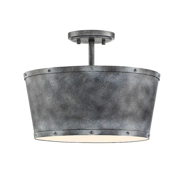 tin lighting. dover farmhouse tin 3light semi flush