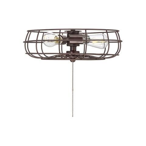 Ratcliffe Metal and Glass 3-light Fan Light Kit