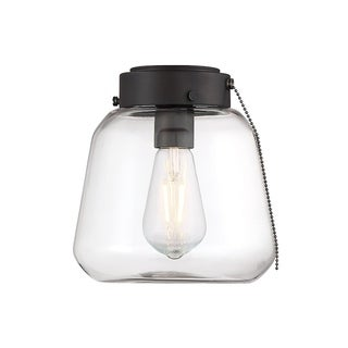 Mclean Metal and Glass 1-light Fan Light Kit