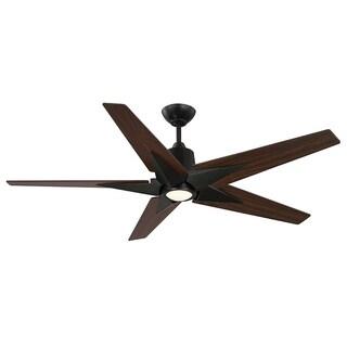 Buckenham English Bronze and Walnut 5-blade Ceiling Fan