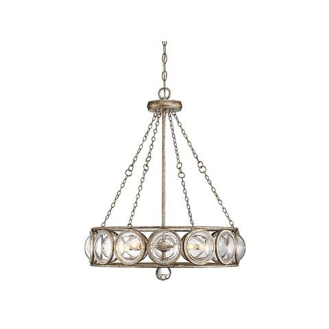 Warwick Britannia Gold Single Tier 5-light Chandelier