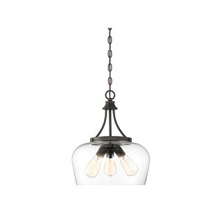 Octave 3-light Curved Glass Pendant
