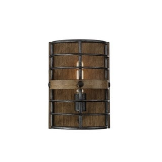 Oakhill Provincial Wood 1-light Wall Sconce