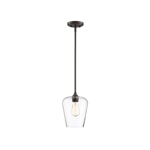 Octave 1-light Curved Glass Pendant