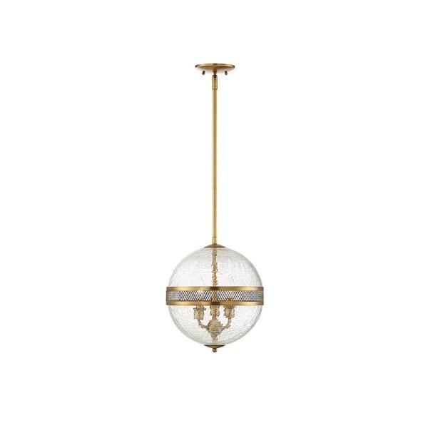 Stirling 3-light Crackled Glass Orb Pendant