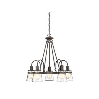 Portsmouth English Bronze 5-light Outdoor Chandelier