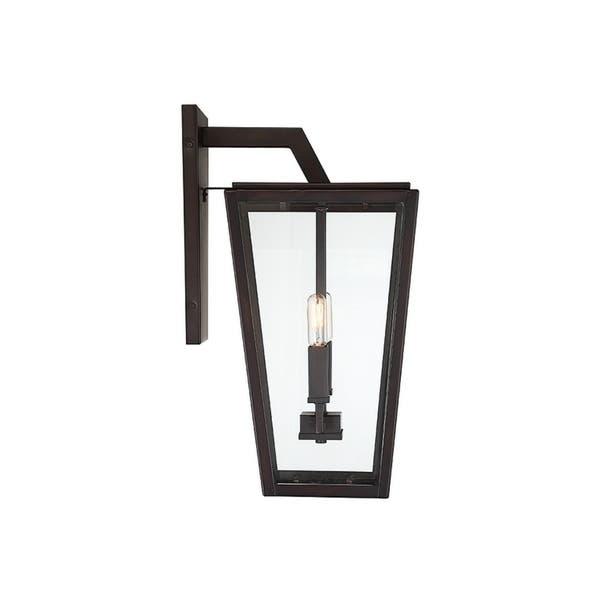 Milton English Bronze 2 Light Wall Lantern Free