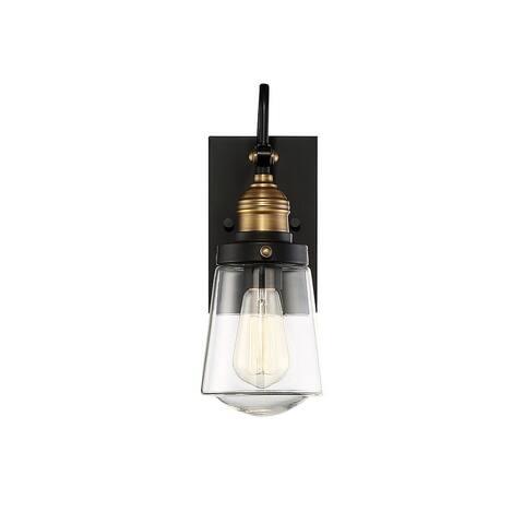 Macauley Vintage Black 1-light 7.5-inch Wall Lantern