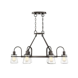 Portsmouth English Bronze 6-light Outdoor Chandelier