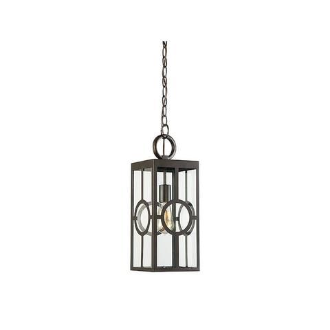 Lauren English Bronze 1-light 17.25-inch Hanging Lantern