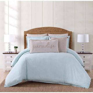Oceanfront Resort Chambray Coast Cotton 3-piece Duvet Cover Set