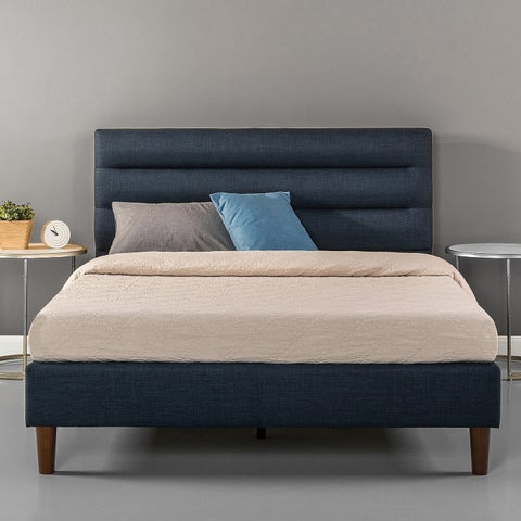 Priage Horizontally Cushioned Platform bed