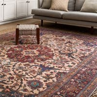 Traditional Distressed Multi Floral Printed Rug (7'6 x 9'6)