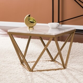 Harper Blvd Markley Champagne w/ Ivory Marble Accent Table