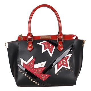 NL Asymmetrical Black Color Block Tote Bag