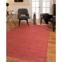 Natural Area Rugs Venice Red Jute Area Rug - 5' x 8'