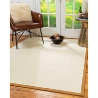 Natural Area Rugs Icon Brown/Khaki Wool and Sisal Handmade Contemporary Bordered Area Rug - 5' x 8'