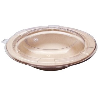 12 oz Round Bagasse Bowls with Lids (150)