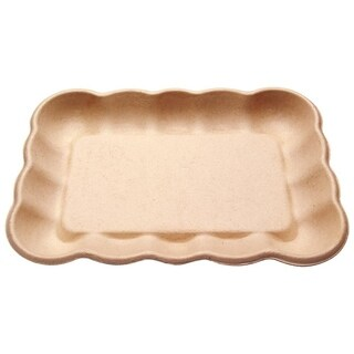 """Cloud Bagasse Tray with PLA coating [11"""" x 16""""] (100)"""